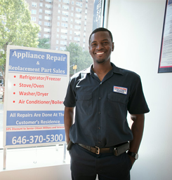Man Wearing a Uniform of Americare Appliance Repair